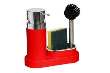 Primanova Polen Mutfak Sıvı Sabunluk Seti Kırmızı Renkli
